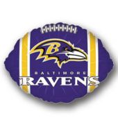 "Baltimore Ravens Football Metallic 18"" Balloon"