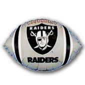 "Oakland Raiders Football Metallic 18"" Balloon"