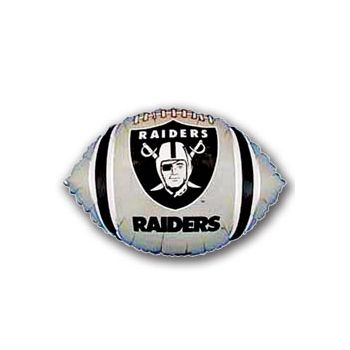 Oakland Raiders Football Metallic Balloon - 18 Inch