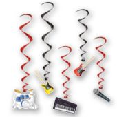 Rock Band Whirl Decorations-5 Per Unit