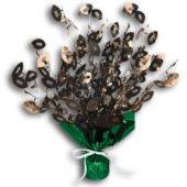 Football Metallic Centerpiece-15""