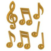 Gold Music Notes-7 Pack
