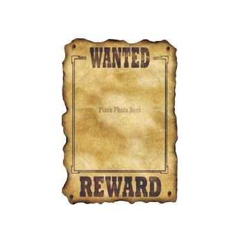 WANTED REWARD PHOTO HOLDER