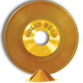Gold Record Centerpiece-9""