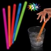 "Orange 5"" Glow Swizzle Stick -  50 Pack"
