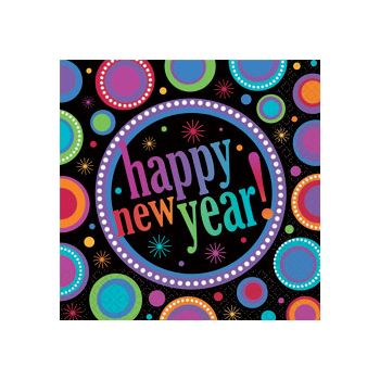 New Years Colors   Beverage Napkins