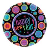 "New Years Colors 7"" Plates - 8 Pack"