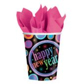 New Years Colors 9 Ounce Cups