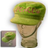 Peace Velvet Newsboy Hat