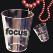Focus Shot Glass Bead Necklace-33""