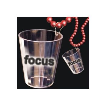 Focus Shot Glass Bead Necklace - 33 Inch
