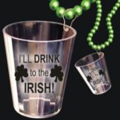 IRISH SHOT GLASS   BEAD NECKLACE