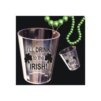 Irish Shot Glass Bead Necklace - 33 Inch