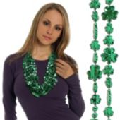 Shamrock Bead Necklaces - 33 Inch, 12 Pack