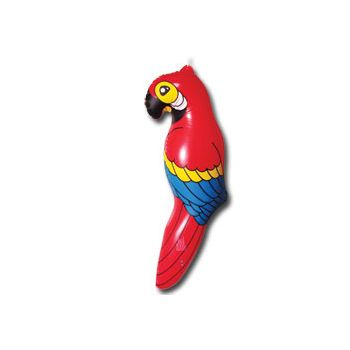 Inflatable Parrots - 26 Inch, 12 Pack