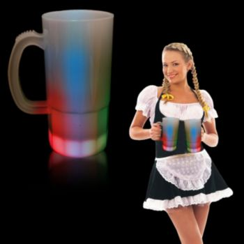 Multi-Color LED Beer Mug - 20 Ounce