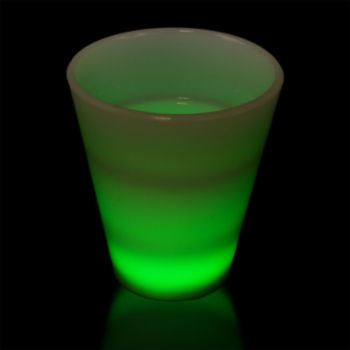 Green LED Shot Glass - 2 Ounce