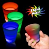 Multi-Color Rainbow LED Shot Glass - 2 Ounce