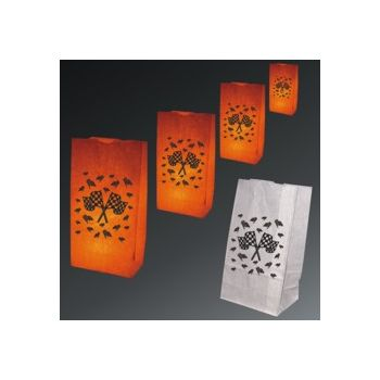 Checkered Flag Luminary Bags - 50 Pack