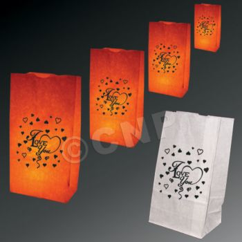I Love You Luminary Bags - 50 Pack
