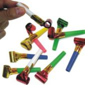 Metallic Party Blowouts - 144 Pack