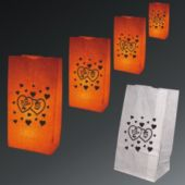 Valentine's Day Luminary Bags-50 Pack