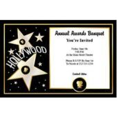 Hollywood Star   Personalized Invitations