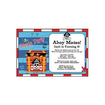 Pirates Treasure Personalized Party Invitations