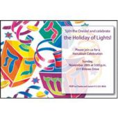Hanukkah Dreidels  Custom Invitations