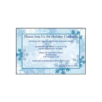Winter Snowflake Party Personalized Invitations