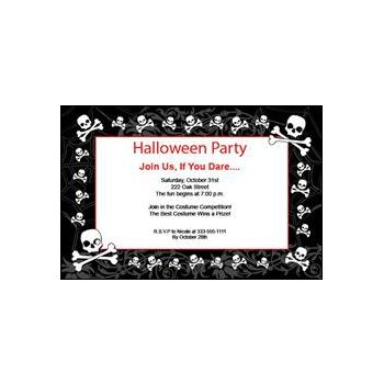 Midnight Dreary Halloween Party Personalized Invitations