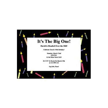 What's 1 More Candle Birthday Party Invitations