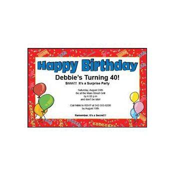 Happy Birthday Invitations