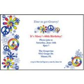 Feeling Groovy Personalized Invitations