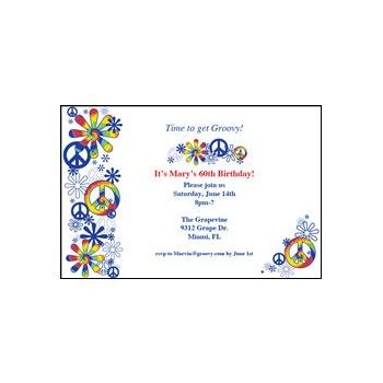 Personalized Peace Sign Invitation