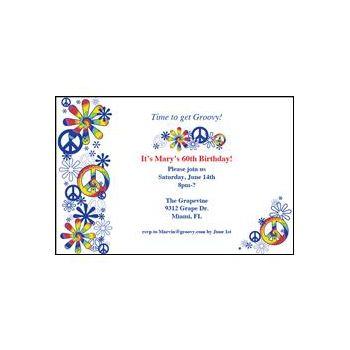 Personalized Peace Sign Invitation