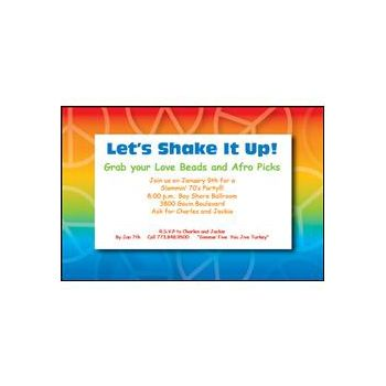 Rainbow Peace Invitations