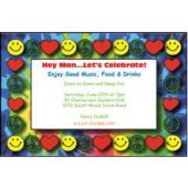 Peace, Love & Happiness Personalized Invitations