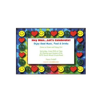 Peace Love and Happiness Invitations