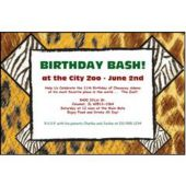 Jungle Print Personalized Invitations