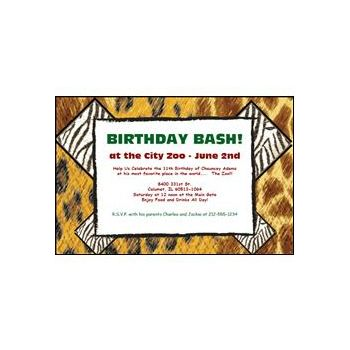 Personalized Animal Print Invitation