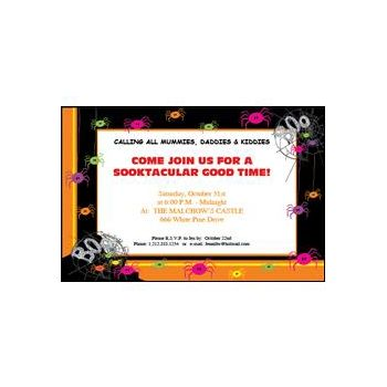 Spider Halloween Invitation