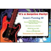 Guitar Rock   Personalized Invitations