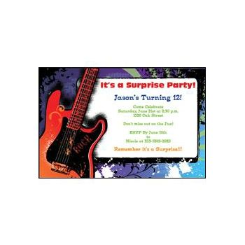 Guitar Rock Invitations