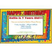 Celebrate Birthdays Personalized Invitations