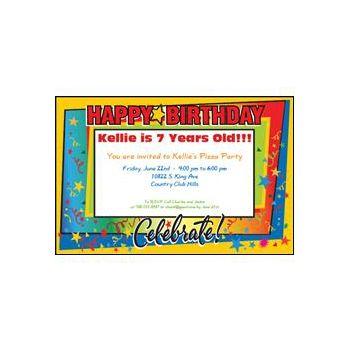 Celebrate Birthdays Personalized Invitations