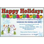 Snowman Holidays  Personalized Invitations