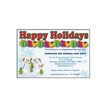 Snowman Holidays Invitations