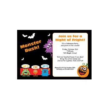 Monster Mash Personalized Invitations