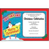 Ho Ho Ho Christmas Personalized Invitaions